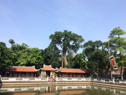 Chinese-influenced architecture at the Temple of Literature