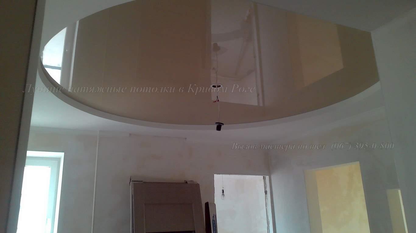 Овальная форма натяжного потолка в Кривом Роге