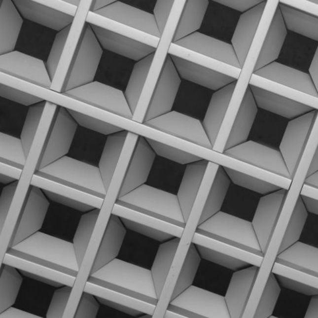 Подвесной потолок типа грильято пирамидальный