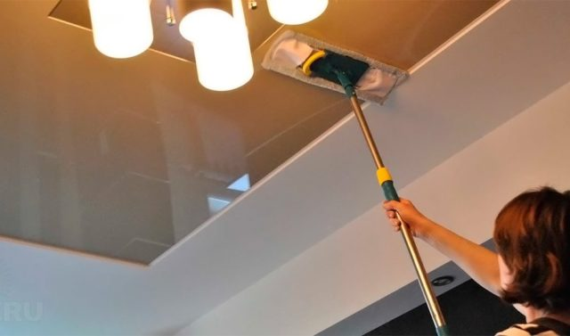 Membasuh ketegangan siling mop