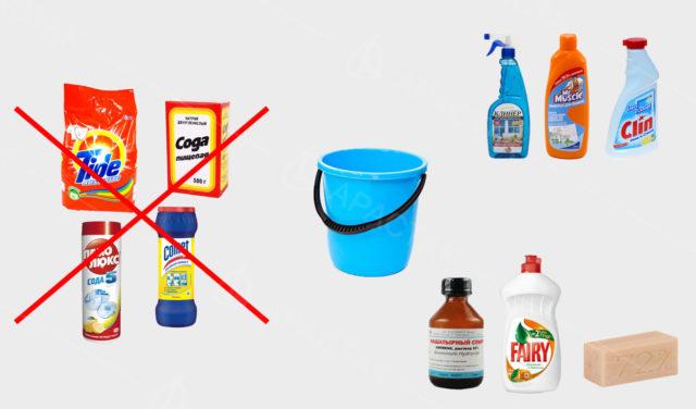 Midler til vaske stræklofter