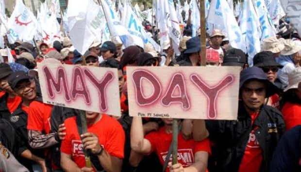 Peringatan May Day Tuntutan KSPI di May,  Buruh Minta Siapapun Presidennya Turunkan Listrik-Sembako