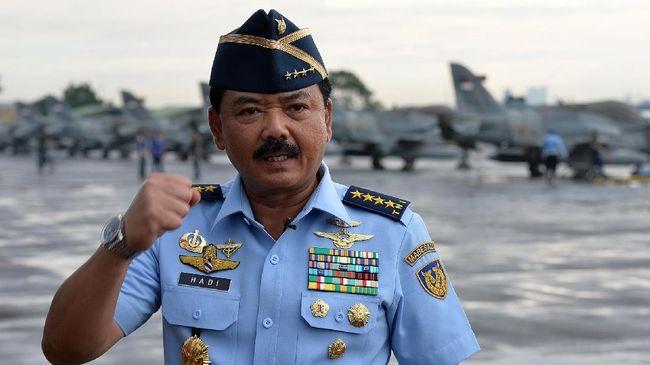 Panglima TNI Marsekal Hadi Tjahjanto Mutasi 43 Pati, Ini Daftar Lengkapnya