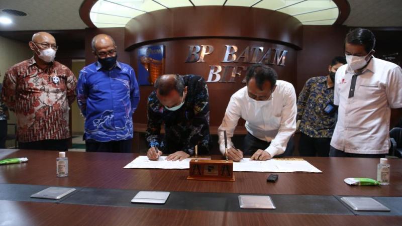 BP Batam dan Lion Air Tandatangani Addendum Sewa Lahan MRO Batam Aero Technic