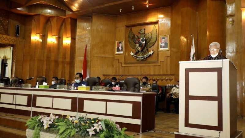Rapat Paripurna DPRD Asahan Tentang Penyampaian Laporan Hasil Pembahasan Awal RPJMD Tahun 2021-2026