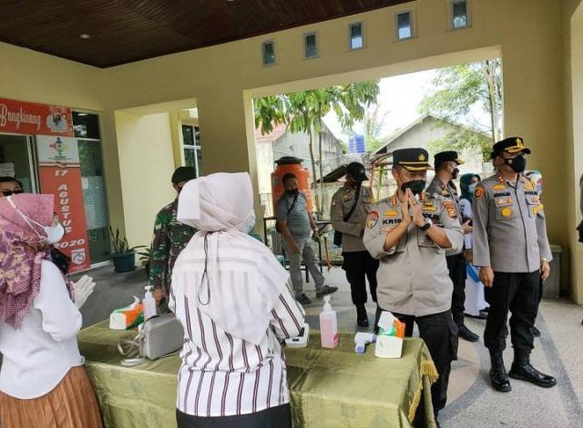 Tim Supervisi Penanganan Covid-19 Polda Riau Tinjau Pos PPKM