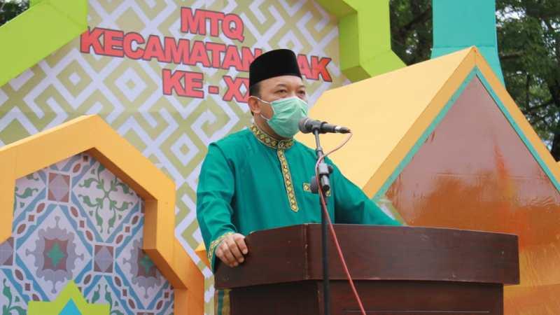 Wabup Husni Tutup MTQ Tingkat Kecamatan Siak