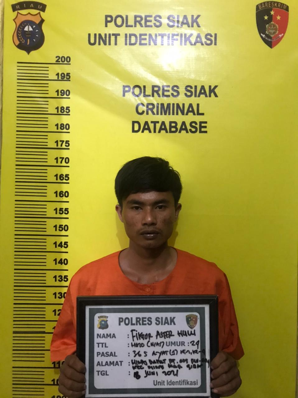Polsek Koto Gasib Tangkap Satu Pelaku Tindak Pidana Pencurian dengan Kerasan