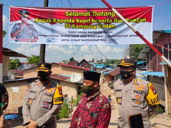 Gelar Bansos, Polda Kepri Salurkan 1.000 Paket Sembako Dimasa PPKM Level 4