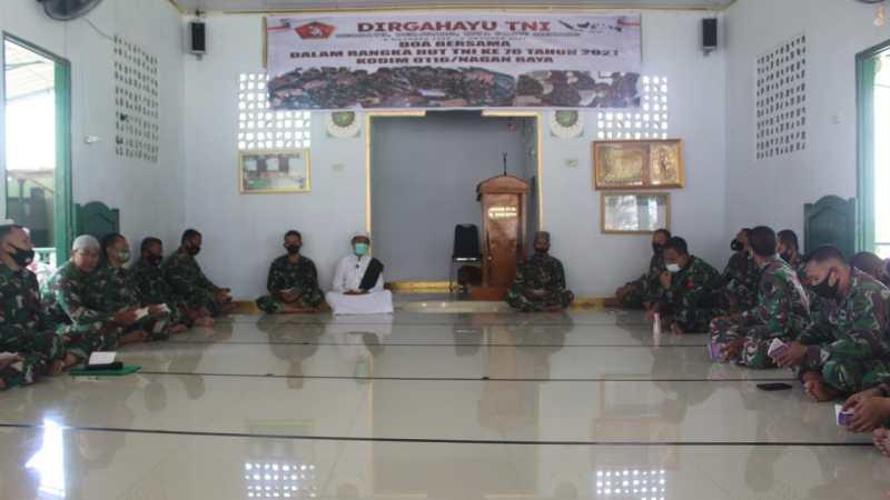 Jelang HUT TNI ke- 76, Kodim 0116 Nagan Raya Gelar Doa Bersama