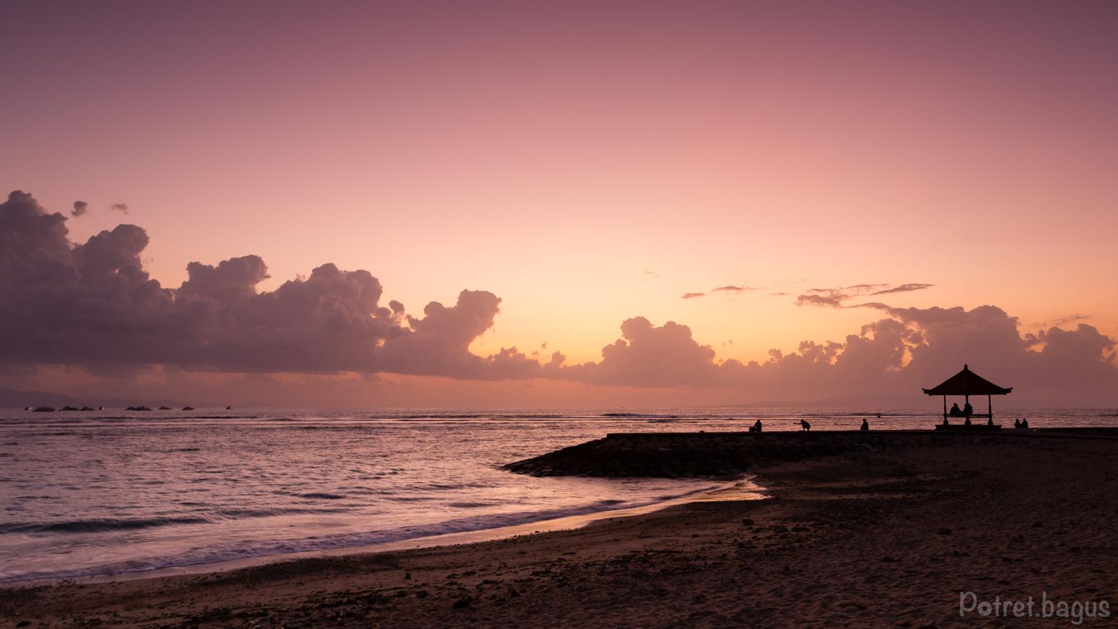 Sunrise at Sanur Beach - potret bagus