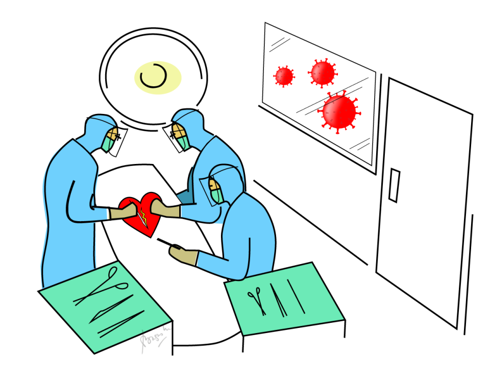 Heart-Surgery-Covid-Illustration