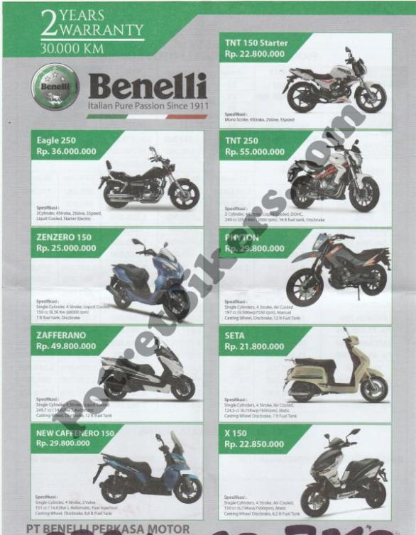 Daftar Harga Benelli 1