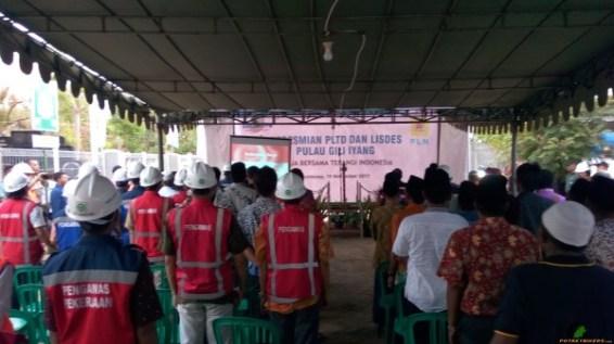 Prosesi Peresmian PLTD Gili Iyang, Sumenep - Madura