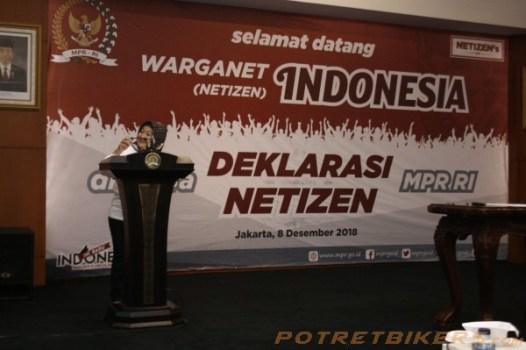 Sukses sudah Ikrar Deklarasi Warganet ( Netizen ) MPR RI 2018 – Day 2