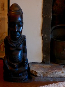 Congolese carving at Pots and Pans Holiday Cottage, Uppermill, Saddleworth