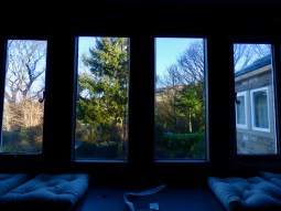 View from window of master bedroom at Pots and Pans Holiday Cottage, Uppermill, Saddleworth