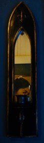 Mirror detail in master bedroom at Pots and Pans Holiday Cottage, Uppermill, Saddleworth