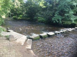 Stepping stones in Uppermill