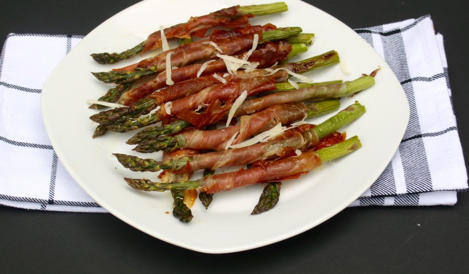 Roasted Asparagus Wrapped potsandpots.com