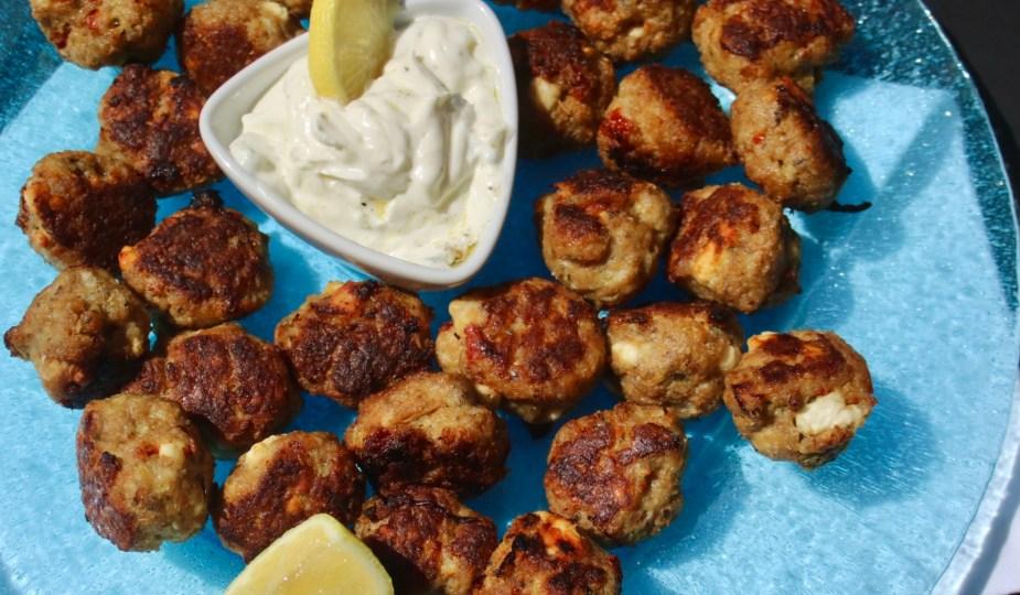 dinner Memories of Greece Chicken Meatballs potsandplanes.com