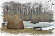Spreewaldimpression im Winter - wo im Sommer Kähne fahren