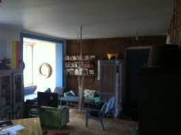 The living area, from the main room