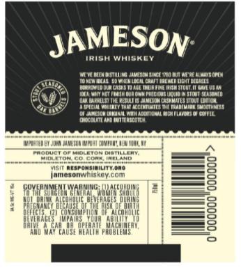 jameson caskmates rebrand back label