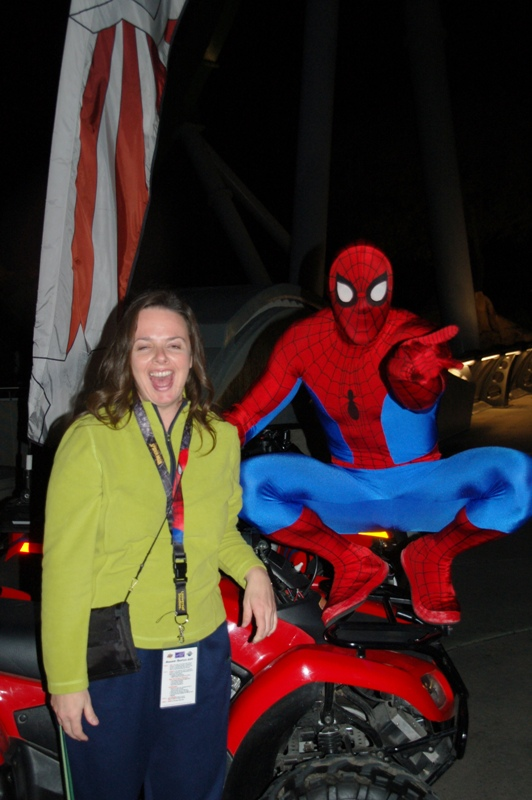 When it was all over, the real Spiderman was out and wanted to have his picture taken with me. (Only a SLIGHT exageration!)