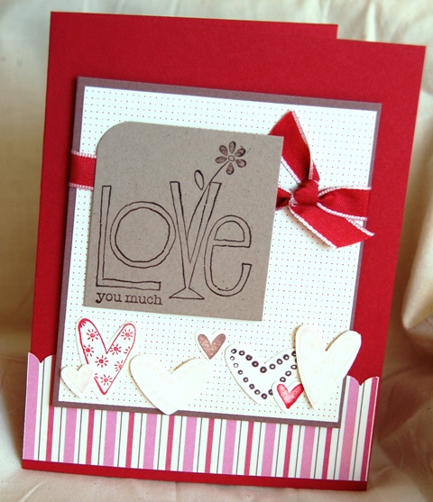 This is a card we made at a recent Stamp Club class.