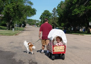 """What is better than being in a """"covered wagon"""" pulled all over town?"""