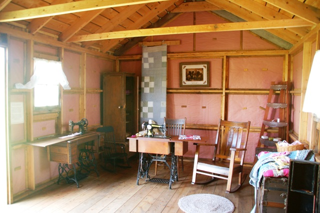 """Nothing in this room is original Ingalls Family possessions; it just gives as idea of what it might have looked like. I was particularly drawn to the """"what-not"""" in the corner. I remember that vividly from the books."""