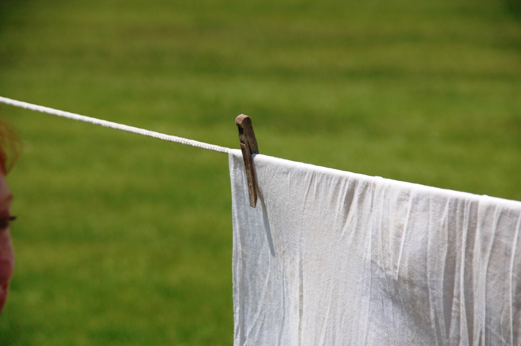 Chic's linen drying on the line.