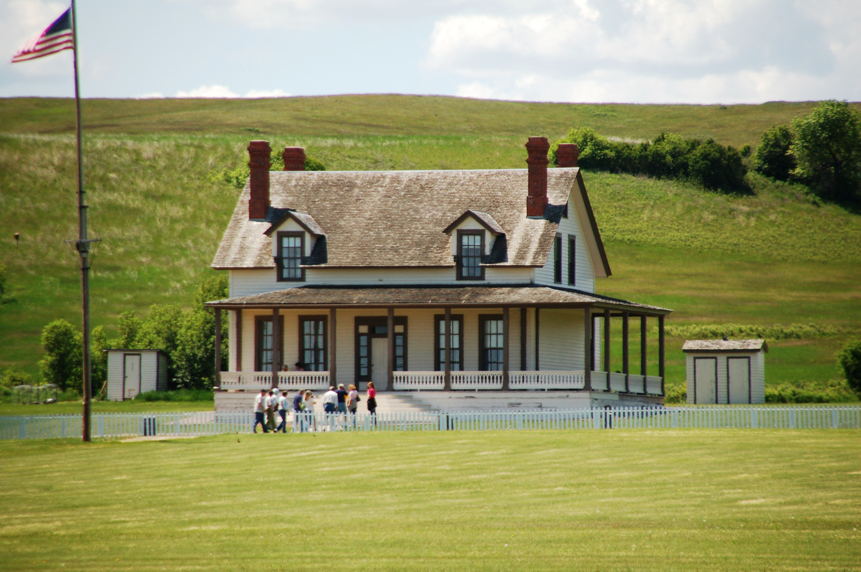 A reconstruction of the house in which Custer lived before The Battle of Little Big Horn. (Click photo to enlarge.)