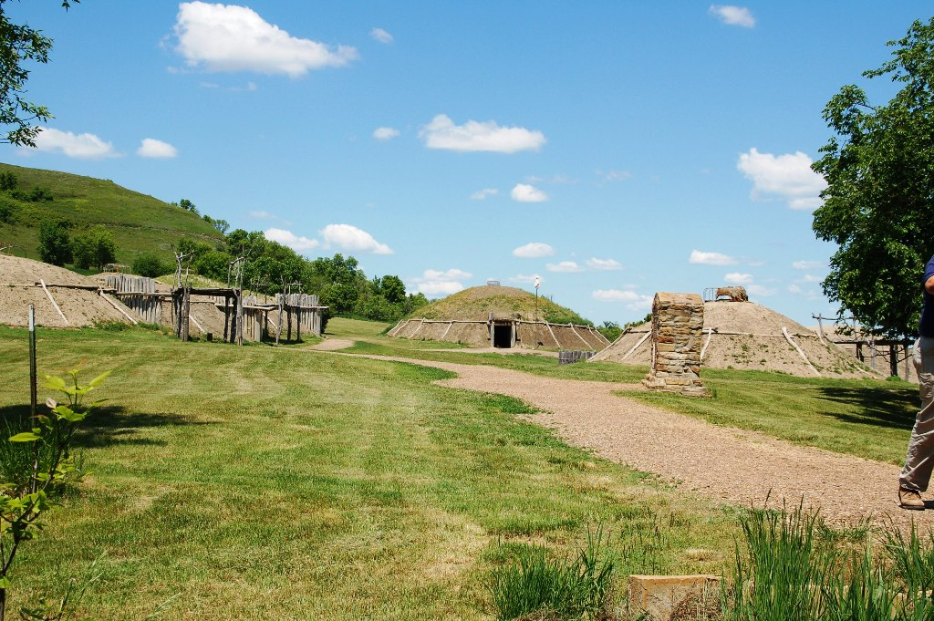 Overall view of the Mandan Indian Slant Village. (Click photo to enlarge.)