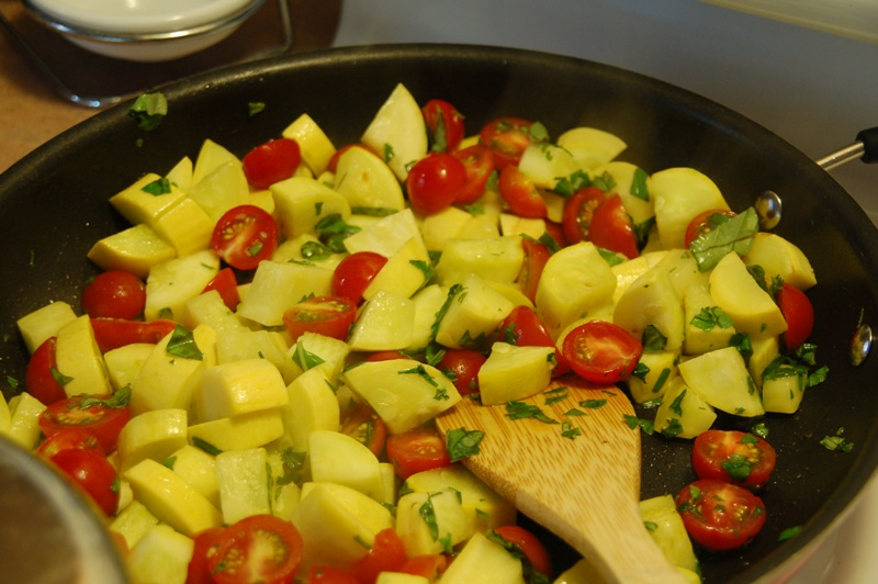 Yellow Squash and Tomatoes