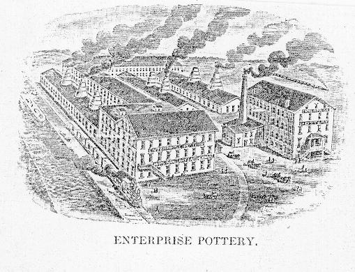 Enterprise Pottery Company Engraving