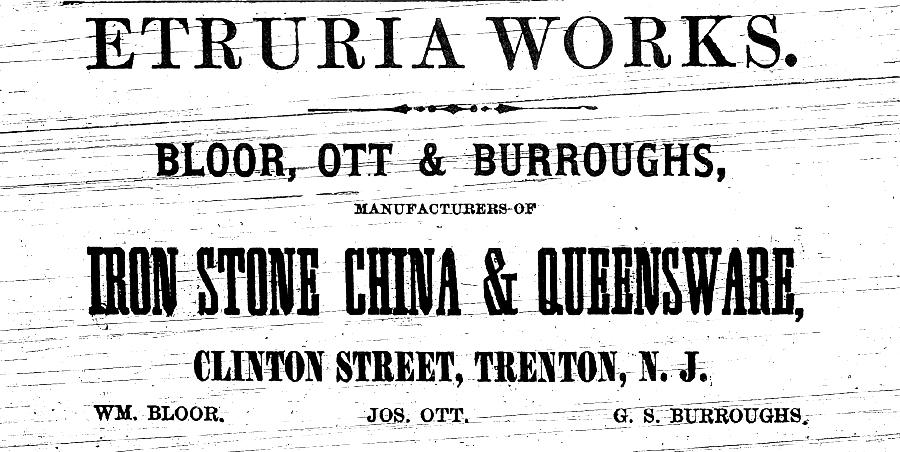 Etruria Works Advertisement