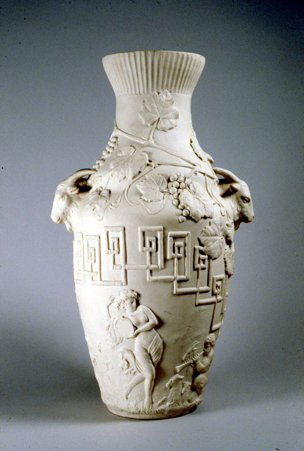 Ott & Brewer, Etruria Works, Pastoral Vase, parian, Isaac Broome designer and modeller, 1875