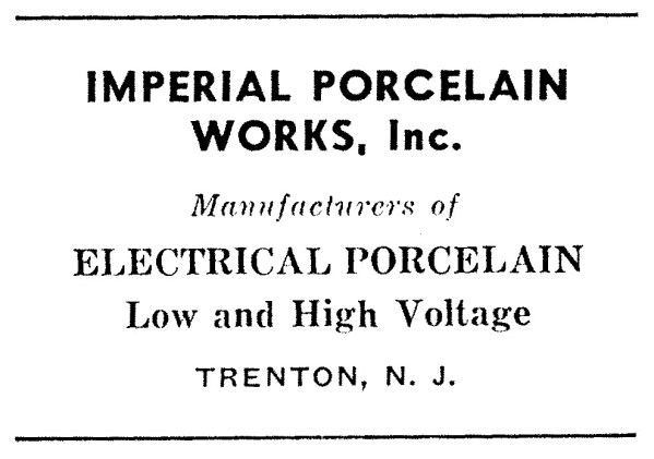 Imperial Porcelain Works Advertisement
