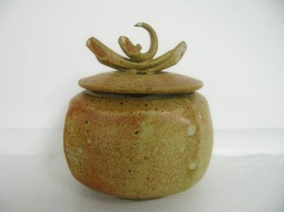 mat glaze lidded vessel