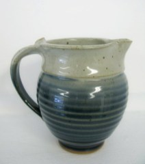 blue & white creamer