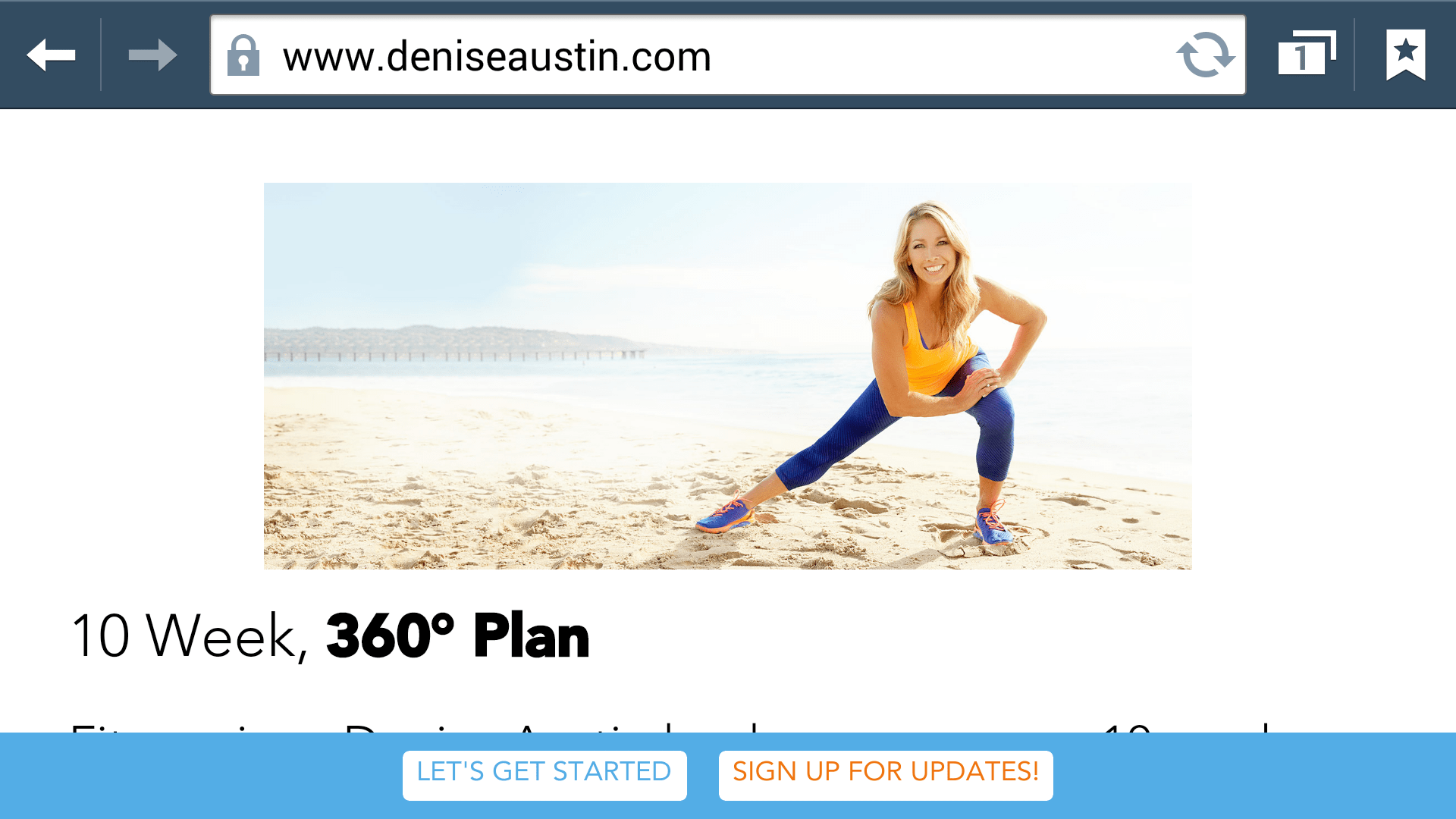 Fitness Icon Denise Austin Launches 10 Week Health And