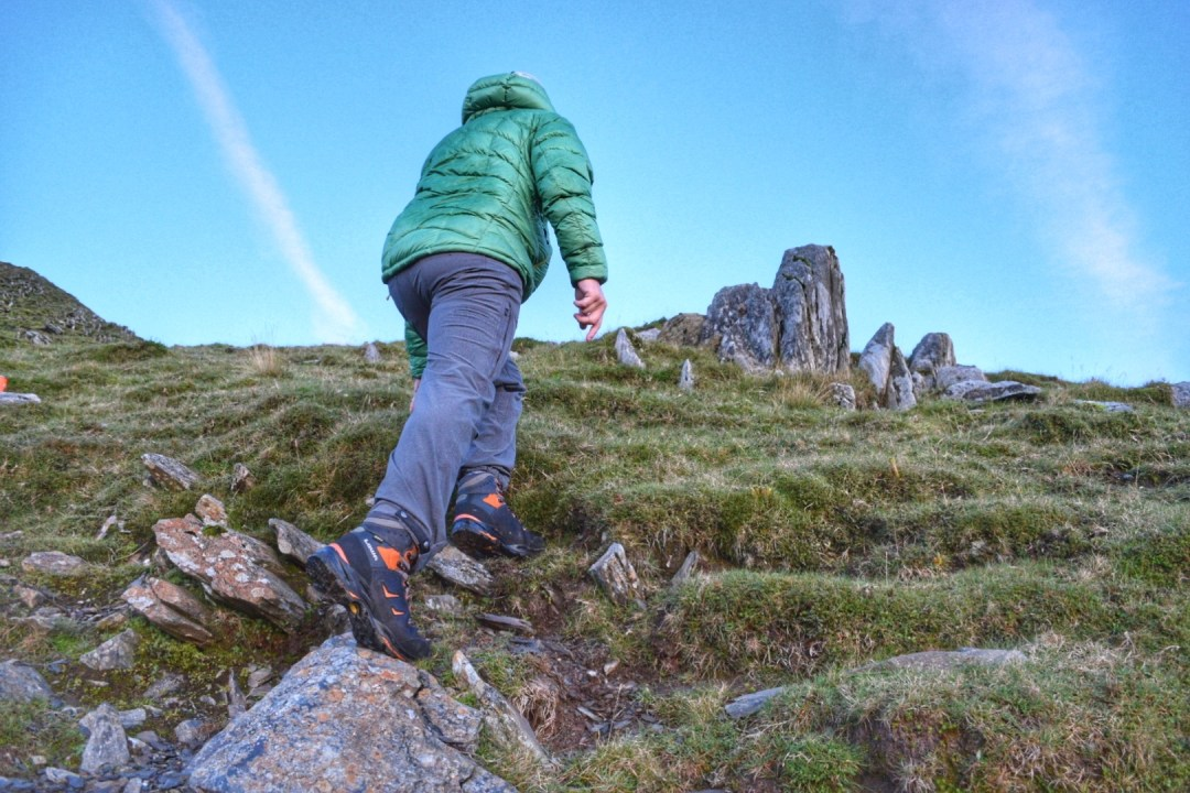 Testing the Lowa Camino GTX in the mountains of Snowdonia.
