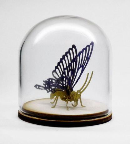 59mm borosilicate glass display dome for Tinysaurs and jewelry display. Dome is 54mm inside diameter.