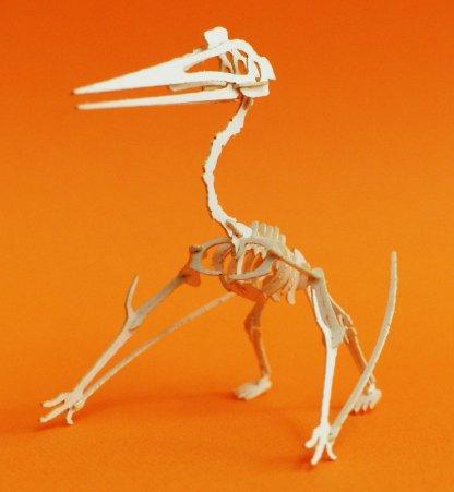 Quetzalcoatlus miniature skeleton model by Tinysaur.us