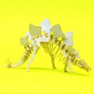 Assembled Stegosaurus mini skeleton model by Tinysaur.us