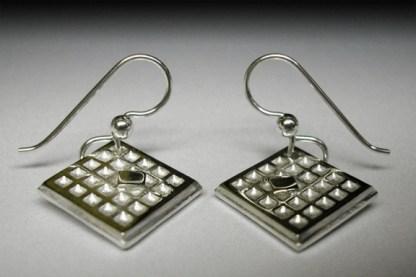 Waffle earrings w/butter