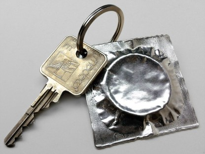 Pewter Condom Key Ring