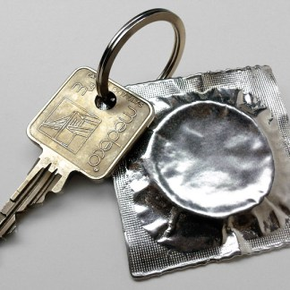 Pewter Condom Key Ring